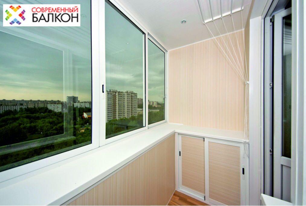 Остекление стандартного балкона.