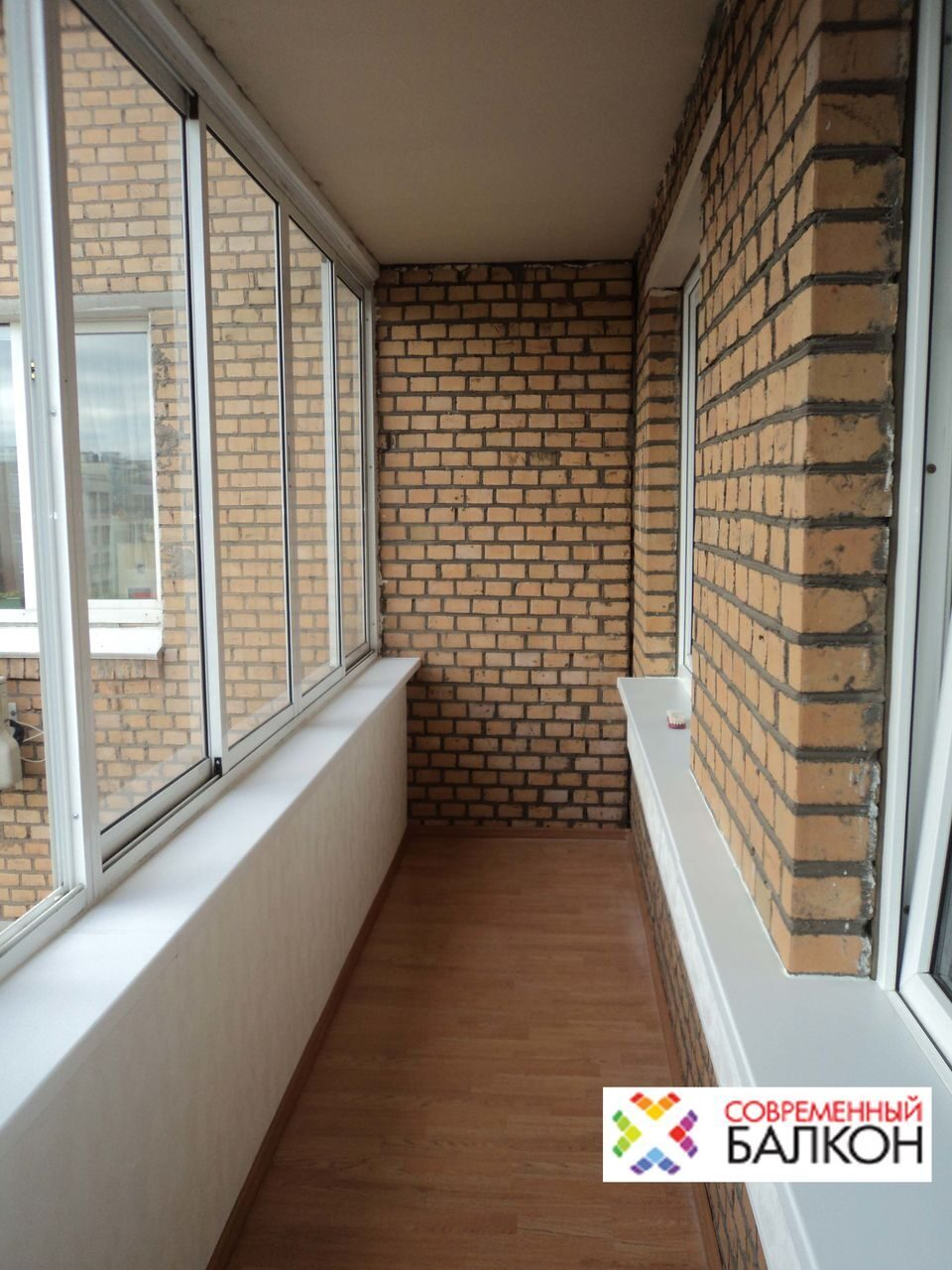 Алюминий остекление фотогалерея по отделке балконов, утеплен.