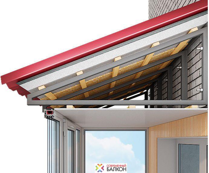 Монтаж крыши на балконе или лоджии компания современный балк.