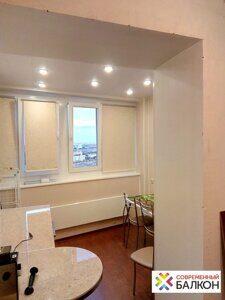 Объединение лоджий и балконов с кухней цены от 2100