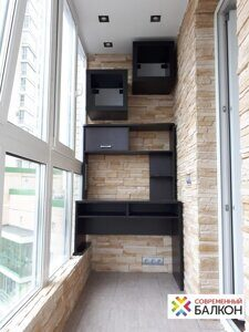 Ремонт и отделка балкона камнем